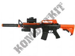 M83A M4 Carbine Full Auto Airsoft BB Machine Gun Black and Orange